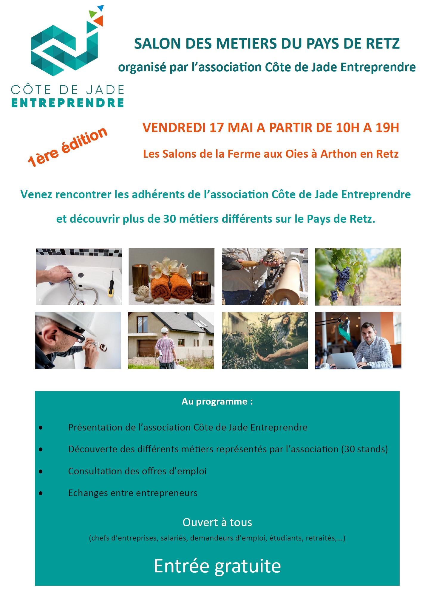 Salon des métiers Association Côte de Jade Entreprendre