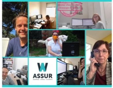 Même en confinement, toute l'équipe W-Assur fidèle à vos côtés !