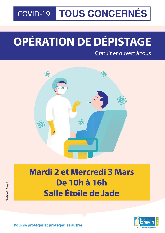 Dépistage COVID-19  Gratuit et sans rdv à Saint-Brevin et la Baule